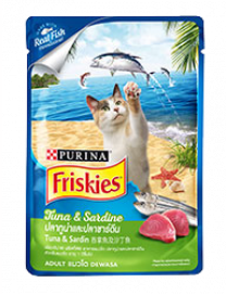 FRISKIES ADULT TUNA & SARDINE POUCH 80G